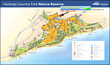 Hastings Country Park Map